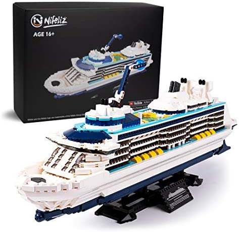 51FYAmp3GeL. AC  - Nifeliz Cruise Liner Model, Toy Boat Building Blocks Kits and Engineering Toy, Construction Set to Build, Model Set and Assembly Toy for Teens(2428 Pcs)