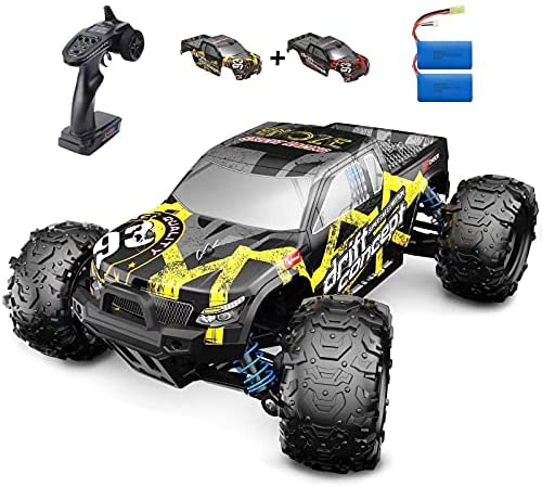 51H+r2 lp7S. AC  - SZJJX RC Cars 40+ KM/H High Speed Remote Control Car 4WD RC Monster Truck for Adults, All Terrain Off Road Toy Truck with Extra Shell 2 Batteries, 40+ Min Play Car Gifts for Kids