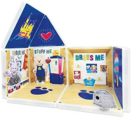 51IEOMSpzIL. AC  - CreateOn Build A Bear Cub Condo Magna-Tile Combo Set. The Original Magnetic Building Tiles Together with Reusable Cling Make Playing Fun, Creative & Colorful Toy for Children Ages 3 Years +