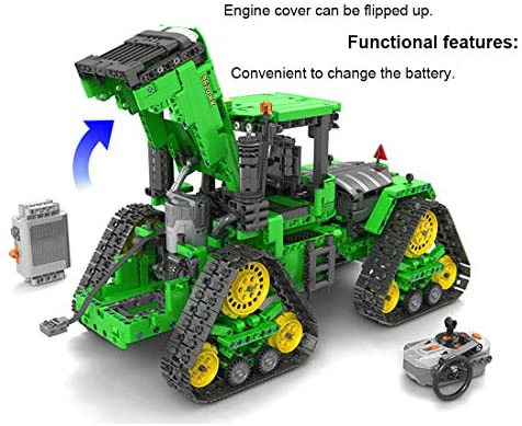 51JaEUmjXwL. AC  - PHYNEDI 1:18 Simulation 2.4G Electric RC Track Tractors Vehicle Model Bricks Set Compatible with Lego, MOC DIY Assembly Small Particle Building Block Construction Toy Kit (1,706 Pieces)