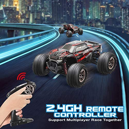 51Jhu1xDv1L. AC  - LUKAT Remote Control Car, 1:20 Off Road RC Racing Car 26+ Km/h High Speed Electric Monster 4x4 Waterproof Toy Vehicle Truck 2.4Ghz Radio Controlled Car Gift for Adults and Kids, Hobbyist Grade