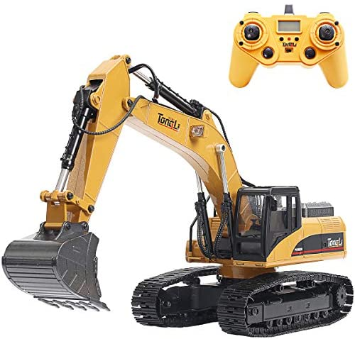 51JiGZtvw7L. AC  - TongLi 1580 1:14 Scale All Metal RC Excavator Toy for Adults Remote Control Digger Construction Trucks 2.4Ghz Powerful Upgraded V4 with New Motherboard