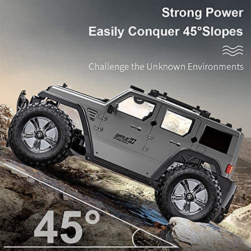 51KF+MV3yVL. AC  - Remote Control Car, 1:14 Scale RC Cars Off-Road 4WD Electric Rock Crawler Monster Vehicle Truck with Rechargeable Batteries for Boys Kids Teens and Adults