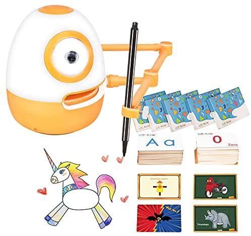 51KUaRhfLbS. AC  - WEDRAW Toddler Learning Educational Toys for 3 4 5 year old kids,Interactive Talking Drawing Robot Teach Math Sight Words Preschool Kindergarten Learning Activities Toy Gift for Girls and Boys Age 3-5