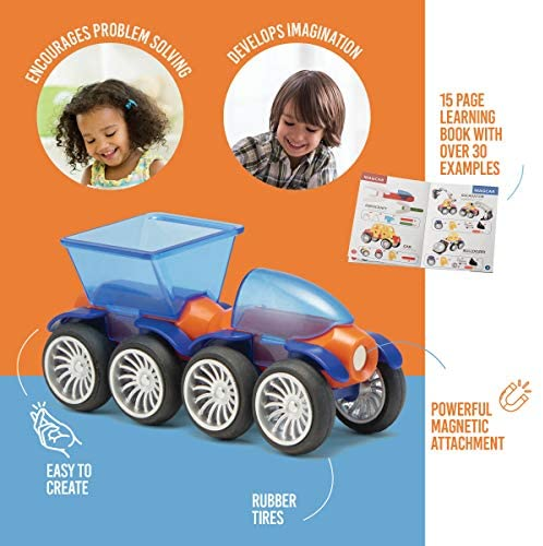 51KZ9nLRgqL. AC  - Play Brainy Magnetic Toy Cars Set for Boys and Girls - Brilliant Educational Toys for Toddlers and Preschoolers - Montessori Toy is Load of Fun & Helps with Developmental Skills (90 Piece)