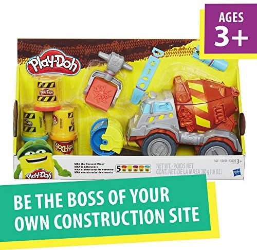 51L3C+IqyML. AC  - Play-Doh Buzzsaw Logging Truck Toy with 4 Non-Toxic Colors, 3-Ounce Cans