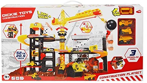 51LaxNnTReL. AC  - Dickie Toys - Construction Playset With 4 Die-Cast Cars