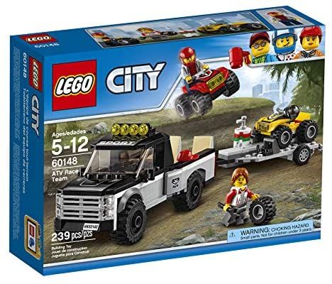 51MXxxrfvlL. AC  - LEGO City ATV Race Team 60148 Building Kit with Toy Truck and Race Car Toys (239 Pieces) (Discontinued by Manufacturer)