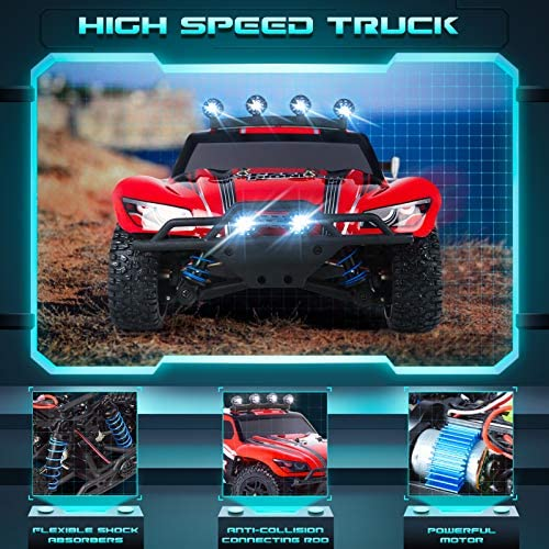 51MduKPKxoL. AC  - RC Cars, 1/18 Scale High-Speed Remote Control Car for Adults Kids, 40+ kmh 4WD 2.4GHz Off-Road Monster RC Truck, All Terrain Electric Vehicle Toy Boy Gift with 2 Batteries for 40+ Min Play