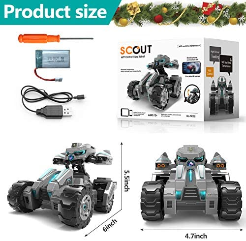 51NASb5vUIL. AC  - RC Cars, Remote Control Car with 720P HD Camera, 4WD WiFi FPV High Speed Gravity Sensor with Lights, AR Mode Electric RC Trucks 1:18 Versus Mode Car with Rechargeable Battery for Kids and Adults