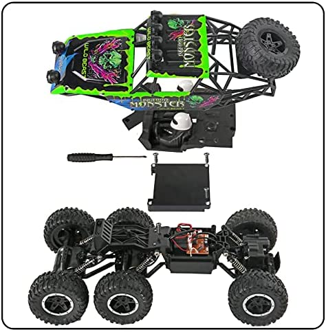 51NmYQ7L1LS. AC  - Remote Control Car 1:12 Scale 6WD High Speed 15 Km/h All Terrain Off Road RC Monster Truck Crawler Electric Vehicle Toy with Rechargeable Battery and Light for Kids Boys Gift (Green)