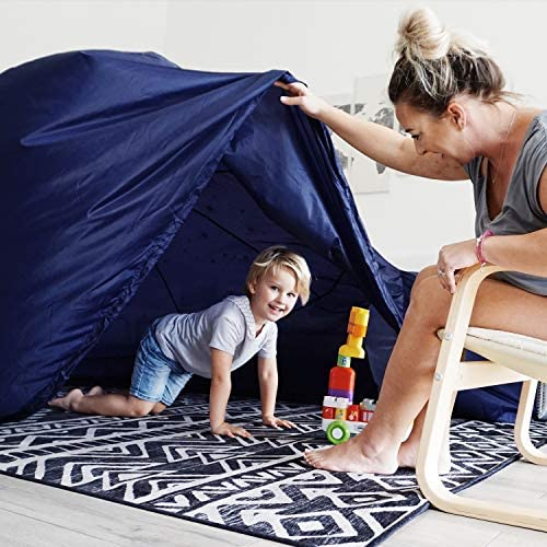 51NpaPT5tcL. AC  - The Original AirFort Build A Fort in 30 Seconds, Inflatable Fort for Kids (Starry Night)