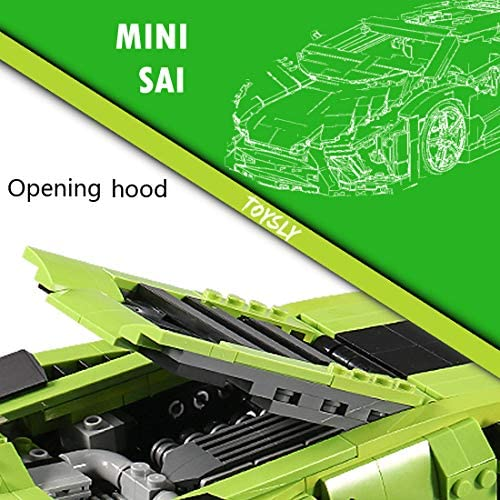 51OyUA8CwDL. AC  - TOYSLY Mini SAI Sports Car MOC Building Blocks and Construction Toy, Adult Collectible Model Cars Set to Build, 1:14 Scale Sports Car Model (1133 Pcs)