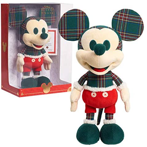 51Pc87L0zGL. AC  - Disney Year of the Mouse Collector Plush, Holiday Spirit Mouse Mickey, Amazon Exclusive by Just Play