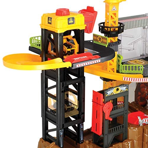 51Rj6bcR6ZL. AC  - Dickie Toys - Construction Playset With 4 Die-Cast Cars