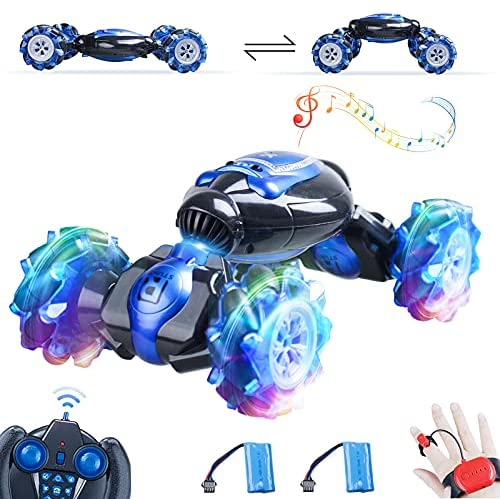 51SC8n 5YyS. AC  - RC Stunt Car,1:12 Large RC Drift Car, 4WD 2.4G Gesture Sensing Control Double Sided Rotating Remote Control Car, 360° Flips Twisted Off Road RC Car with 2 Batteries, KB KAIBO Crawler RC Cars for Boys