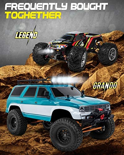 51SHLXMh0WL. AC  - 1:10 Scale Large RC Rock Crawler - 4WD Off Road RC Cars - Remote Control Car 4x4 Electric Truck - IPX5 Waterproof Trucks for Adults - RTR with 5Ch Remote, Battery and Charger