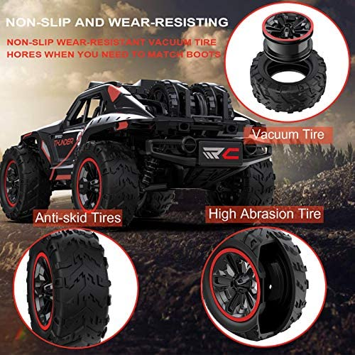 51SPAwohDuL. AC  - Remote Control Car, Uniway Scale RC Cars 4WD 30 KM/H 2.4 GHZ High Speed Racing Car for Boys and Girl 6-12 Gift, 35+ Min Play, RC Trucks 4x4 Offroad with 2 Rechargeable Batteries-Black