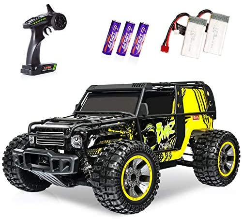 51TIedwpOXL. AC  - RC Cars 1:10 Scale Large High Speed Remote Control Car for Adults Kids, 48+ kmh 4WD 2.4GHz Off Road Monster Truck Toys, All Terrain Electric Vehicle Boy Gifts with 2 Batteries for 40+ Min Play