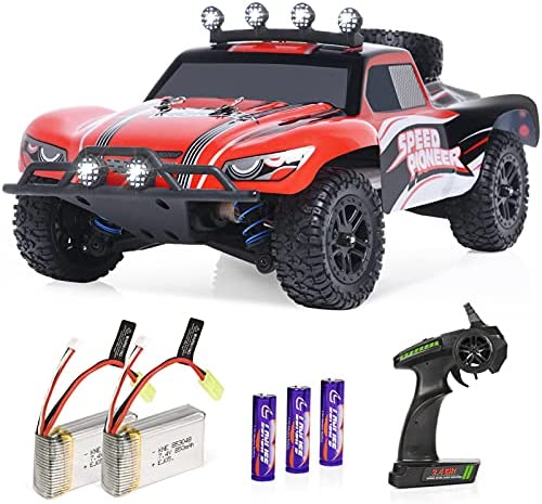51TlOYR2cNS. AC  - RC Cars, 1/18 Scale High-Speed Remote Control Car for Adults Kids, 40+ kmh 4WD 2.4GHz Off-Road Monster RC Truck, All Terrain Electric Vehicle Toy Boy Gift with 2 Batteries for 40+ Min Play
