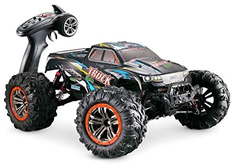 51VPTZGZyBL. AC  - Hosim Large Size 1:10 Scale High Speed 46km/h 4WD 2.4Ghz Remote Control Truck 9125,Radio Controlled Off-Road RC Car Electronic Monster Truck R/C RTR Hobby Grade Cross-Country Car (Blue)