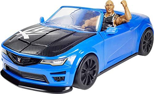 51Vq3Tfp mL. AC  - WWE Wrekkin' Slam-Mobile Vehicle (13-in) with Rolling Wheels and 8 Breakable Parts & 6-in The Rock Basic Action Figure, Gift for Ages 6 Years Old and Up [Amazon exclusive]