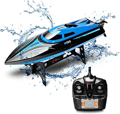 51VtOEFqEsL. AC  - DeXop Remote Control Boat Rc Boat with High Speed Radio Remote Control Electric Racing Boat for Children, Adults, Works in the bathtub at home(H100)