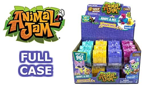 51WW6ET5mXL. AC  - Animal Jam Adopt a Pet Treasure Chest Sealed Mystery Box of 24 Chests Game Code