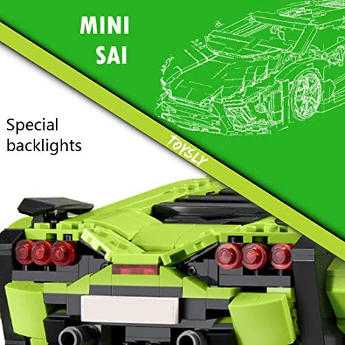 51ZpqDP72qL. AC  - TOYSLY Mini SAI Sports Car MOC Building Blocks and Construction Toy, Adult Collectible Model Cars Set to Build, 1:14 Scale Sports Car Model (1133 Pcs)