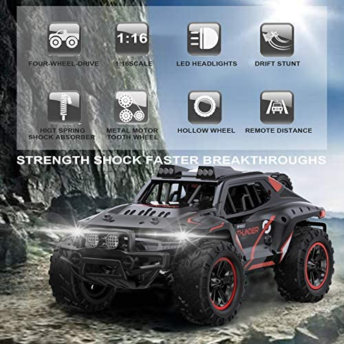 51awnFkRfVL. AC  - Remote Control Car, Uniway Scale RC Cars 4WD 30 KM/H 2.4 GHZ High Speed Racing Car for Boys and Girl 6-12 Gift, 35+ Min Play, RC Trucks 4x4 Offroad with 2 Rechargeable Batteries-Black