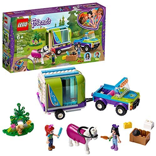 51bSpiy9YcL. AC  - LEGO Friends Mia's Horse Trailer 41371 Building Kit with Mia and Emma Mini Dolls Includes Toy Truck, Horse, and Rabbit for Creative Play (216 Pieces)