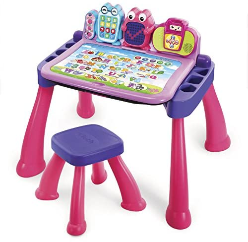 51bawx4qa1L. AC  - VTech Touch and Learn Activity Desk Deluxe, Pink