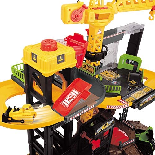 51bgKPZr9yL. AC  - Dickie Toys - Construction Playset With 4 Die-Cast Cars