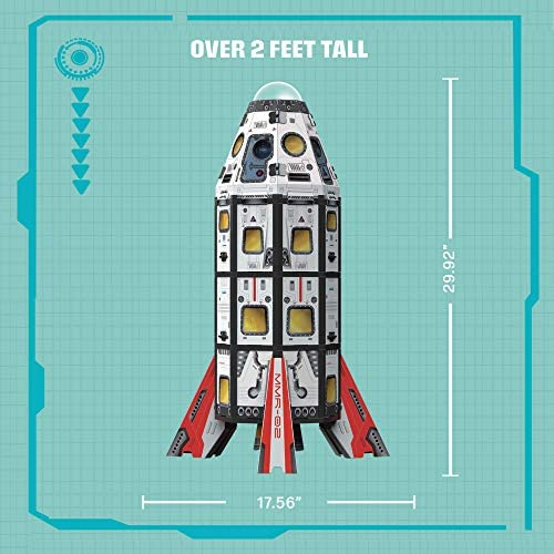 51blo4TPDoL. AC  - GUJO Adventure Mars Mission Rocket, Kids STEM Building Toys Set (2.5 ft. Tall) Space Toy Rocket Ship - STEM Learning Toy for Boys & Girls Ages 7-11+ Great Gift for Kids (240+ Pieces)