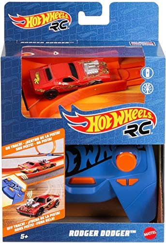 51cQRFcsORL. AC  - Hot Wheels R/C 1:64 Scale Rechargeable Radio-Controlled Racing Cars for On- or Off-Track Play, Includes Car, Controller & Adapter for Kids 5 Years Old & Up