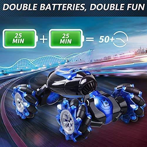 51d4+XesUsS. AC  - RC Stunt Car,1:12 Large RC Drift Car, 4WD 2.4G Gesture Sensing Control Double Sided Rotating Remote Control Car, 360° Flips Twisted Off Road RC Car with 2 Batteries, KB KAIBO Crawler RC Cars for Boys