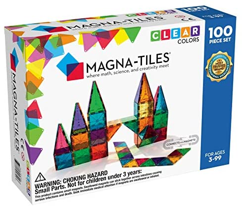 51dfbsjyfOL. AC  - Magna-Tiles 100-Piece Clear Colors Set, The Original Magnetic Building Tiles For Creative Open-Ended Play, Educational Toys For Children Ages 3 Years +