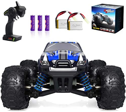 51eY66txYTL. AC  - VCANNY Remote Control Car, Terrain RC Cars, Electric Remote Control Off Road Monster Truck, 1: 18 Scale 2.4Ghz Radio 4WD Fast 30+ mph RC Car, with 2 Rechargeable Batteries