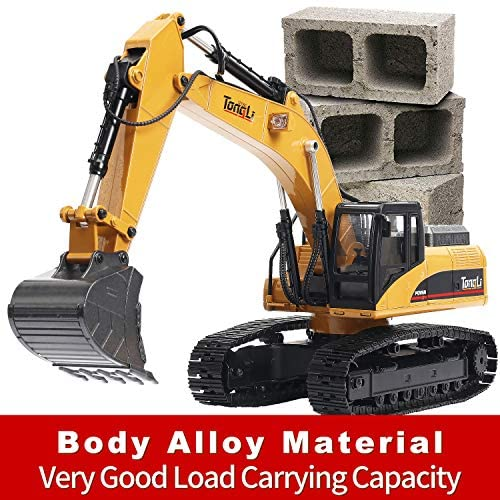 51ewCpYWlCL. AC  - TongLi 1580 1:14 Scale All Metal RC Excavator Toy for Adults Remote Control Digger Construction Trucks 2.4Ghz Powerful Upgraded V4 with New Motherboard
