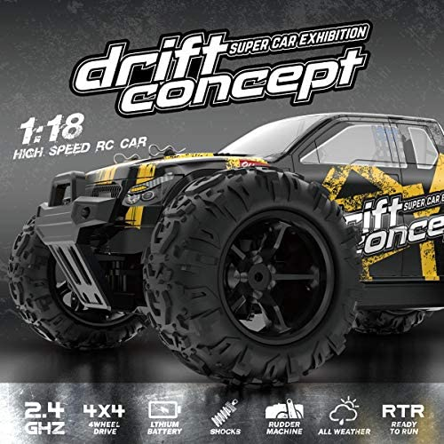 51fRyH6qgtL. AC  - SZJJX RC Cars 40+ KM/H High Speed Remote Control Car 4WD RC Monster Truck for Adults, All Terrain Off Road Toy Truck with Extra Shell 2 Batteries, 40+ Min Play Car Gifts for Kids