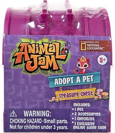 51fnjFMMikL. AC  - Animal Jam Adopt a Pet Treasure Chest Sealed Mystery Box of 24 Chests Game Code