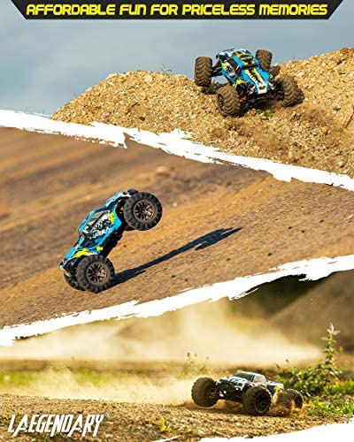 51gYOppuYfL. AC  - 1:10 Scale Large RC Cars 48+ kmh Speed - Boys Remote Control Car 4x4 Off Road Monster Truck Electric - All Terrain Waterproof Toys Trucks for Kids and Adults - 2 Batteries + Connector for 40+ Min Play