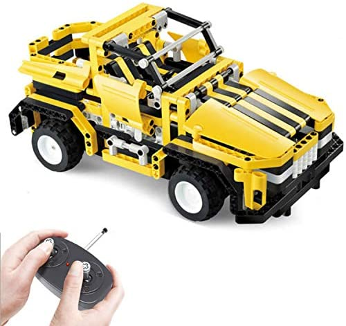 51ikAuhzLsL. AC  - STEM Toys Remote Control Building Sets for Boys 8-12 | 426 Pcs RC engineering Kit Builds Off Road Car or RC Racer (2in1) STEM Building Toy Set for Kids - Ages 6 7 8 9 10 11 12 Years Old, Boy Toys Gift