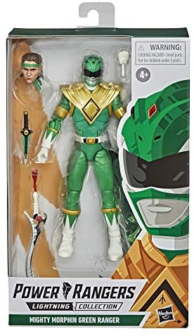 51jS66hm5PL. AC  - Power Rangers Lightning Collection Mighty Morphin Green Ranger 6-Inch Premium Collectible Action Figure Toy with Accessories