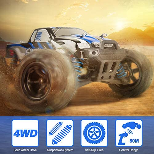 51jrsh6BtBL. AC  - VCANNY Remote Control Car, Terrain RC Cars, Electric Remote Control Off Road Monster Truck, 1: 18 Scale 2.4Ghz Radio 4WD Fast 30+ mph RC Car, with 2 Rechargeable Batteries