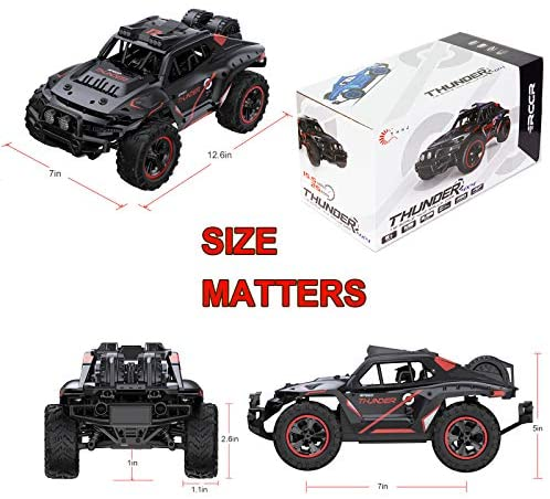 51juvdk47FL. AC  - Remote Control Car, Uniway Scale RC Cars 4WD 30 KM/H 2.4 GHZ High Speed Racing Car for Boys and Girl 6-12 Gift, 35+ Min Play, RC Trucks 4x4 Offroad with 2 Rechargeable Batteries-Black