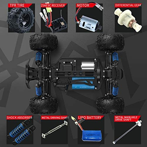 51kIZaaSxiL. AC  - SZJJX RC Cars 40+ KM/H High Speed Remote Control Car 4WD RC Monster Truck for Adults, All Terrain Off Road Toy Truck with Extra Shell 2 Batteries, 40+ Min Play Car Gifts for Kids