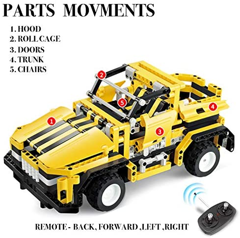 51kp1zpSGVL. AC  - STEM Toys Remote Control Building Sets for Boys 8-12 | 426 Pcs RC engineering Kit Builds Off Road Car or RC Racer (2in1) STEM Building Toy Set for Kids - Ages 6 7 8 9 10 11 12 Years Old, Boy Toys Gift