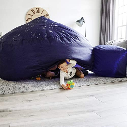 51lHY YDYIL. AC  - The Original AirFort Build A Fort in 30 Seconds, Inflatable Fort for Kids (Starry Night)