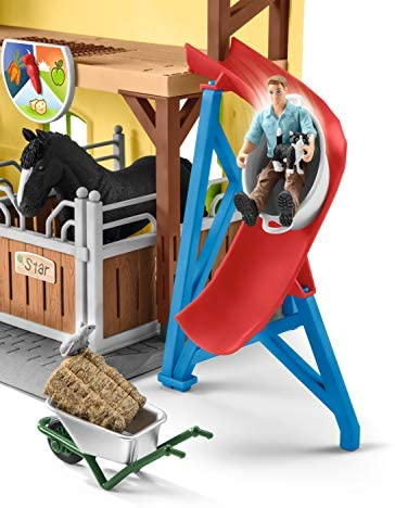51ll1zBHXAL. AC  - Schleich Farm World, 30-Piece Playset, Farm Toys and Farm Animals for Kids Ages 3-8, Horse Stable
